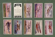 Tobacco cigarette cards set Types of Aeroplanes 1929, Vickers,Torpedo Bomber,etc